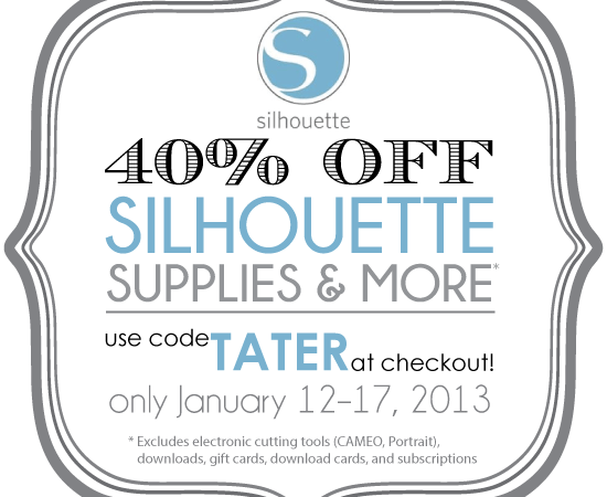 Special CHA Discount — 40% off ALL Silhouette Supplies!!