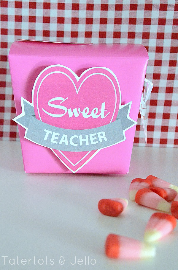 Sweet Teacher Gift Idea and Printable