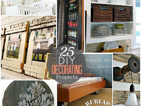 Great Ideas — 25 DIY Home Decorating Projects!!