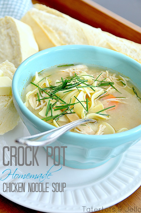 Easy Slow Cooker Chicken Soup