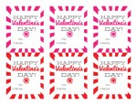 Valentine's Day Printable: Sunburst Red and Pink Valentines!