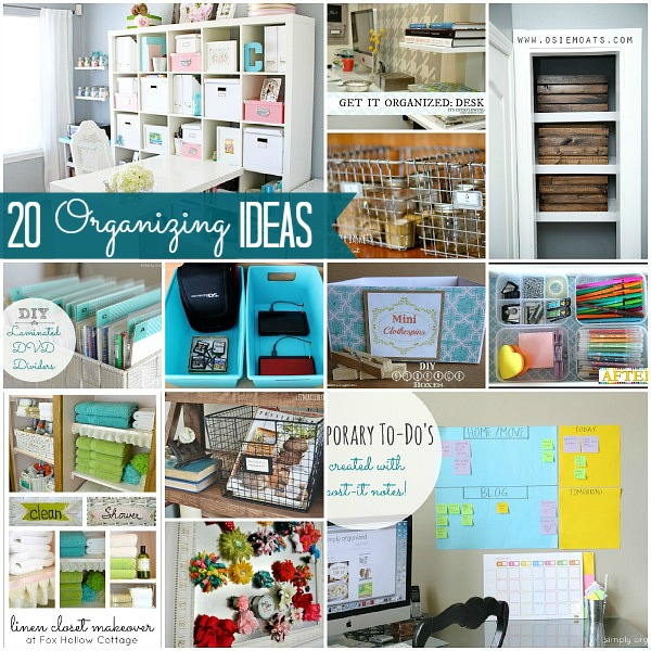 Great ideas 20 ways to organize your home Organizing your home