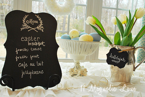 DIY Chalkboard Menu and Chalkboard Tags!