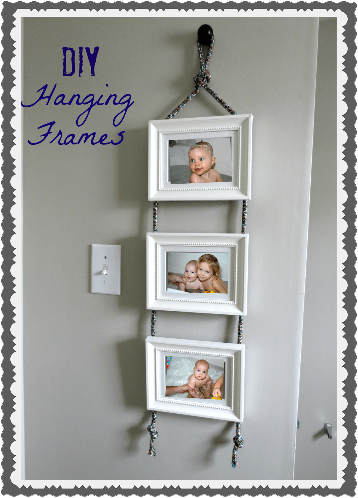 Diy Hanging Frames Tutorial Tatertots And Jello