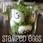 DIY Stamped Eggs for Spring or Easter Decorating!