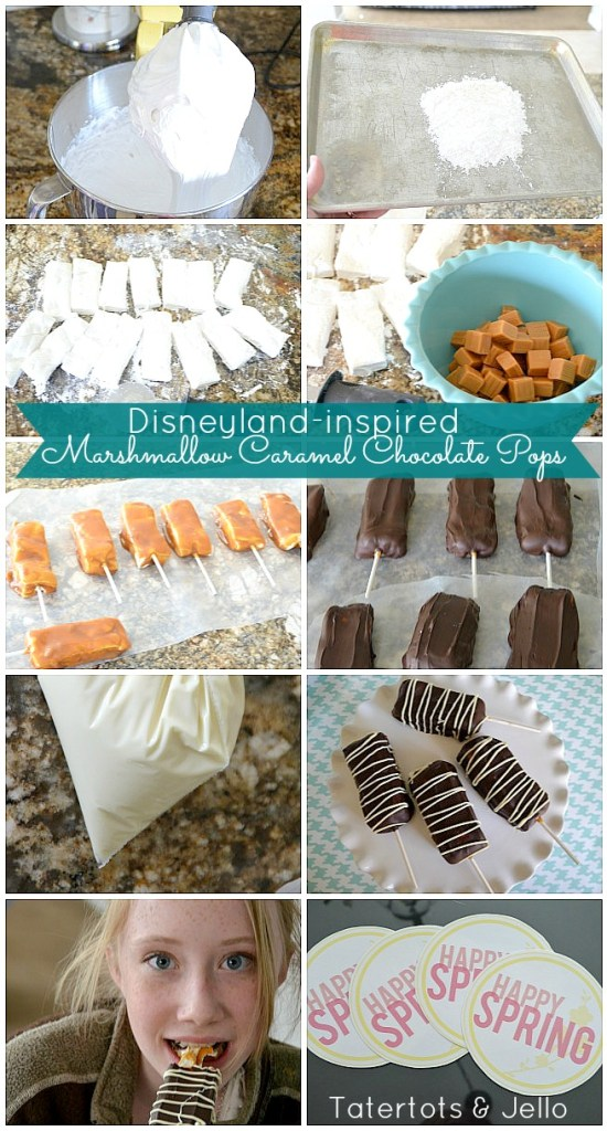 marshmallow caramel chocolate pops