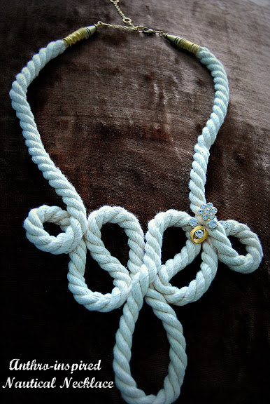 anthro inspired nautical necklace