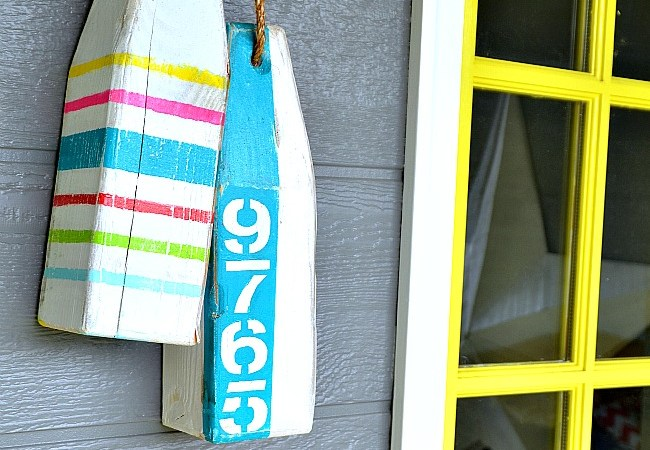 DIY Address and Patriotic Buoys!