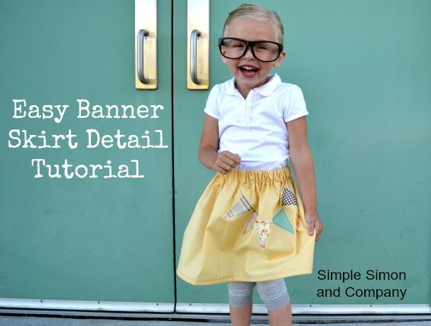 easy banner skirt tutorial