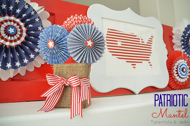 nautical patriotic mantel