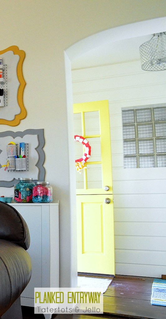 planked entryway