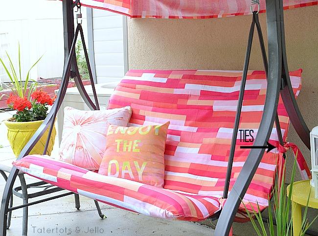 porch swing cover at tatertotsandjello.com