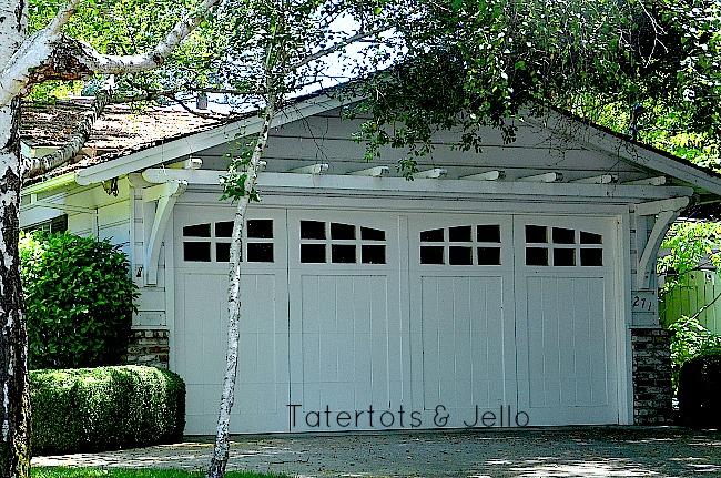 trellis over garage doors at tatertots & Jello