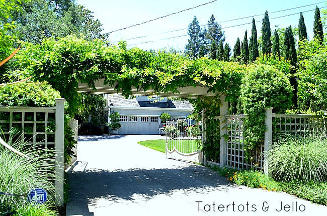 trellis over the driveway