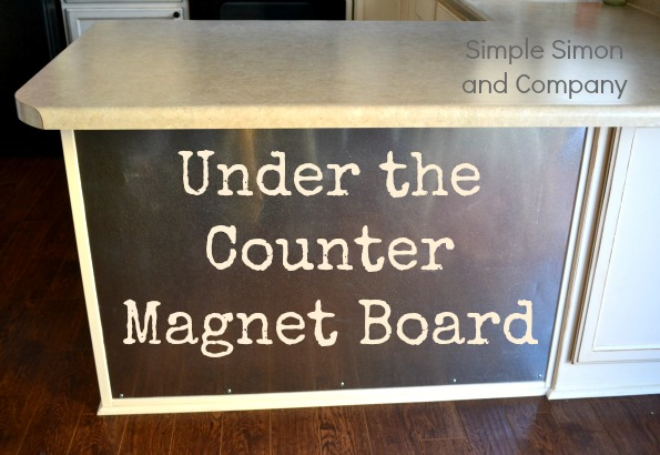 under the counter magnet board