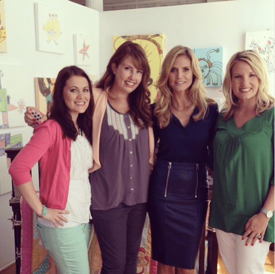 Awesome bloggers with Heidi Klum