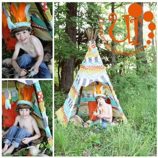 colorful teepee