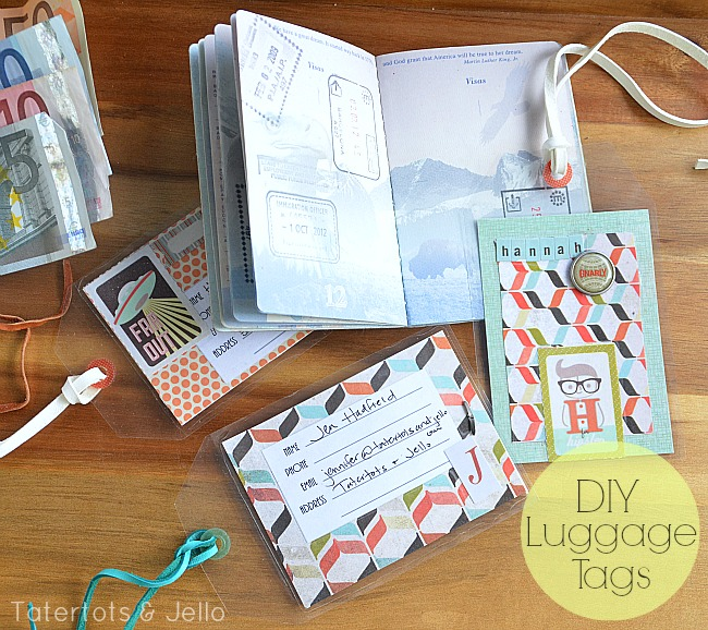 diy luggage tags at tatertots and jello