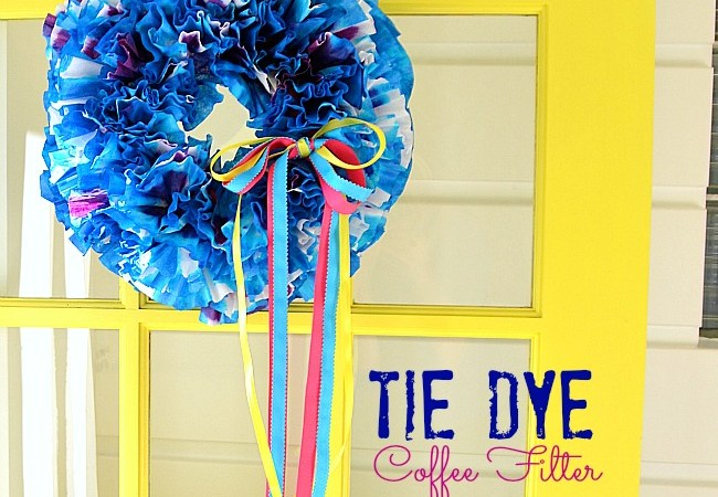 Make a Summer DIY Tie-Dye Coffee Filter Wreath!