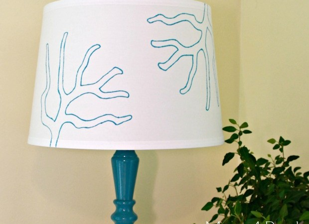 Stencil a Lamp Shade With a Sharpie Marker!