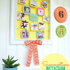 DIY Summertime Instagram Display Wall!