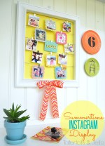 DIY Summertime Instagram Display Wall!