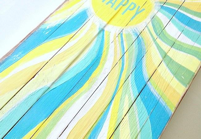 Beachy Summer Pallet Art!