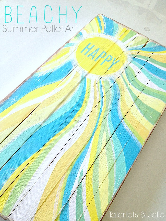 behy pallet summer art at tatertots and jello