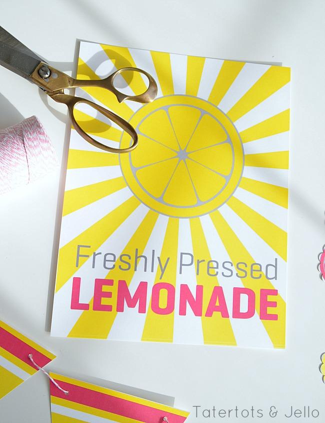 image regarding Lemonade Sign Printable referred to as Summer months Lemonade Stand Free of charge Printable Symptoms - basic lemonade