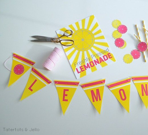 lemonade stand free printables at tatertots and jello