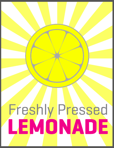 picture about Lemonade Sign Printable referred to as Summer season Lemonade Stand Free of charge Printable Signs and symptoms - straightforward lemonade