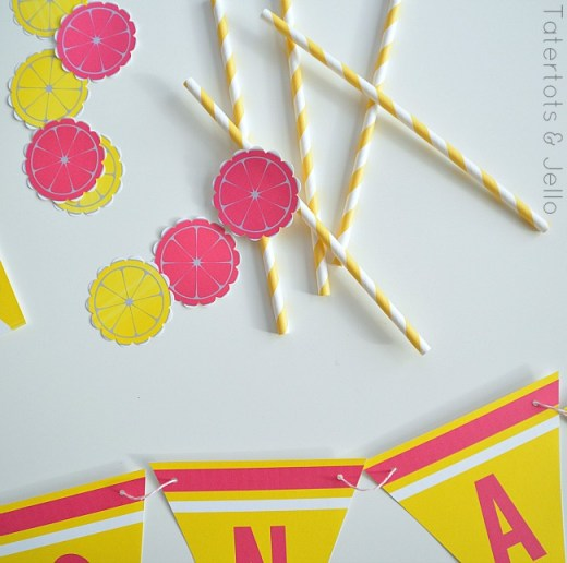 lemonade stand straw printables