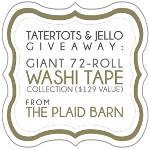 Weekend Wrap-Up Party — and 72-Roll Washi Tape Collection Giveaway!
