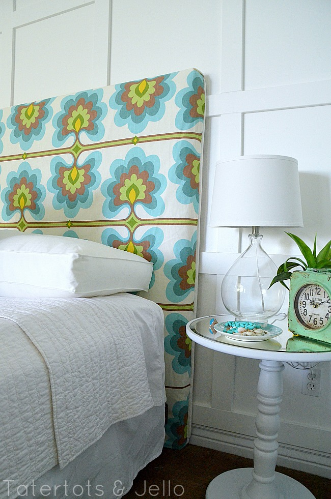 slipcover your headboard for a new look