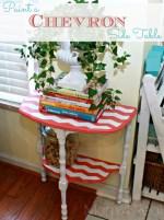Paint a Chevron Side Table!