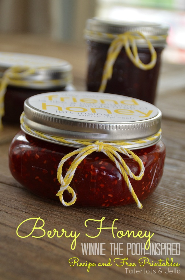berry honey recipe and free printable at tatertots and jello