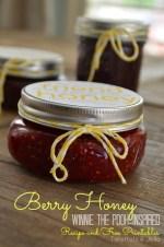 Make Raspberry Honey and Free Winnie-The-Pooh-Inspired Neighbor Gift Printables!