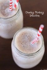 Chunky Monkey Protein Smoothie – A Great After School Snack or Quick Breakfast!