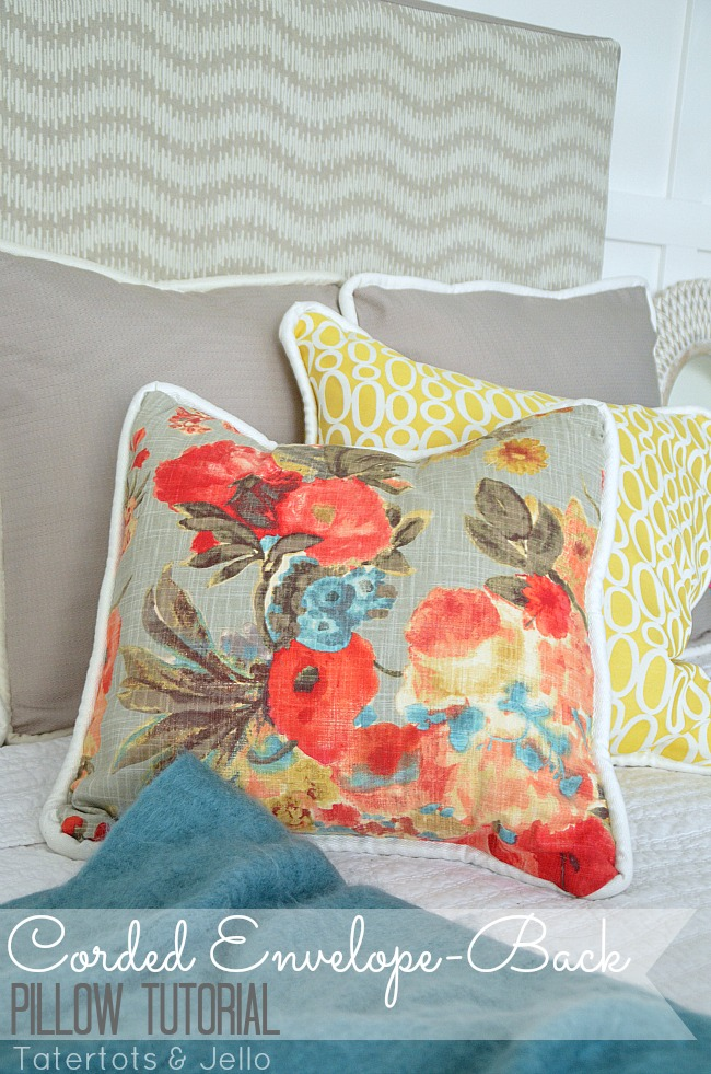 How To Make Easy EnvelopeBack Pillow Covers With Cording Inspiration Joann Fabrics Pillow Covers