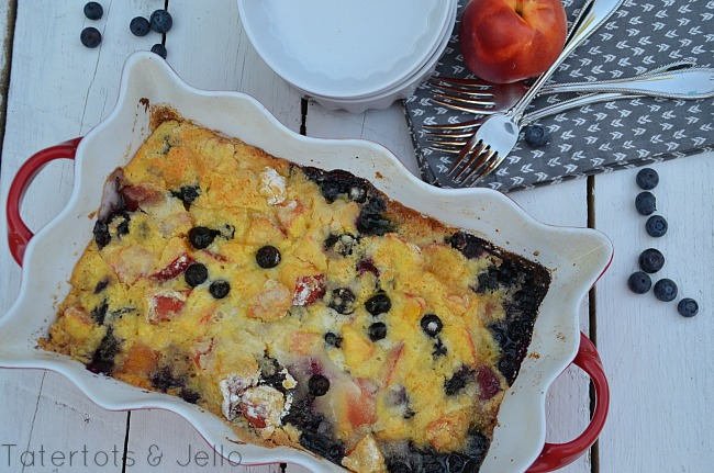 easy and delicious cake mix cobbler