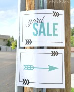 Free Yard Sale Sign Printables!!