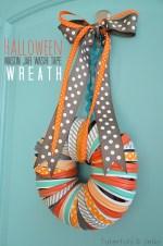 Halloween Mason Jar Ring and Washi Tape Wreath!