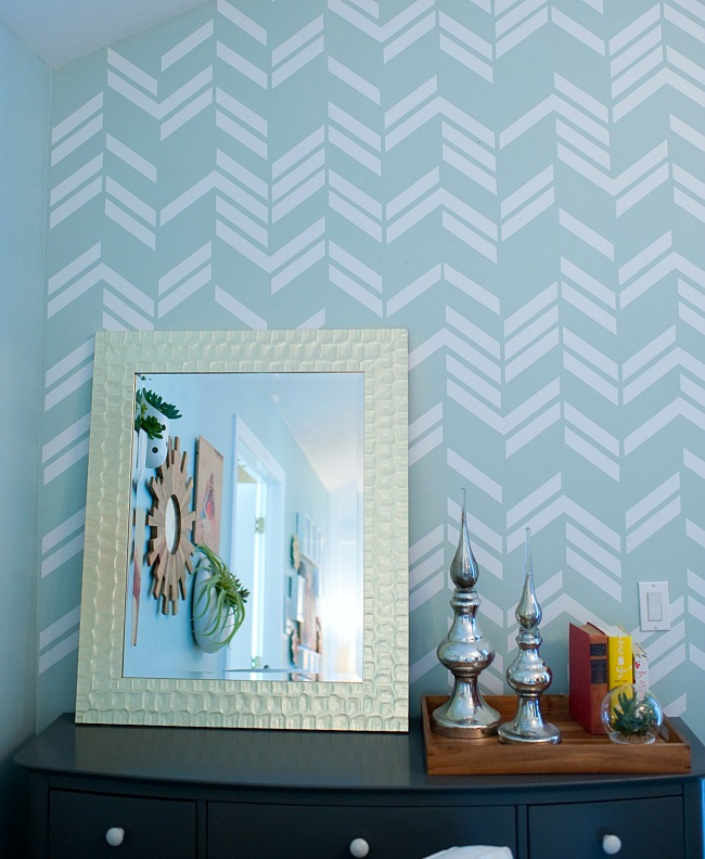 herringbone wall decals