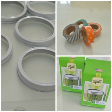 supplies for mason jar lid wreath
