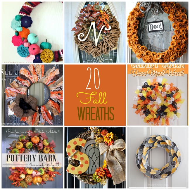 Diy Fall Wreaths Part - 39: 20 DIY Fall Wreath Ideas