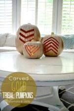 Make Gold Geometric Pumpkins for Fall!