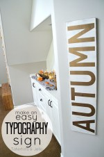 Make a Giant Typography Sign for Autumn!