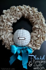 Make a Plaid Pumpkin Ruffle Wreath!!