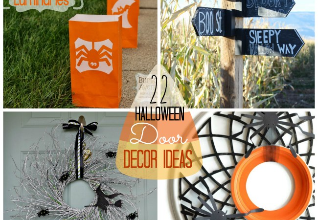 Great Ideas — 22 Halloween DIY Door and Decor Projects!