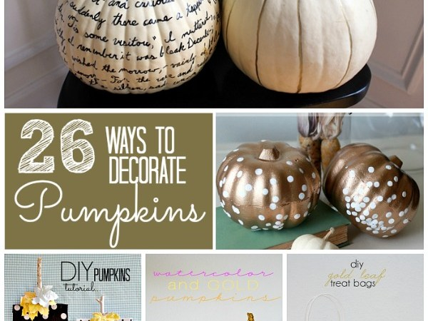 Great Ideas – 26 Pumpkin Decorating Projects!